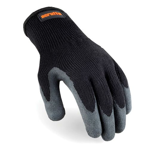 Scruffs T50997 Utility Latex Coated Gloves Black Large